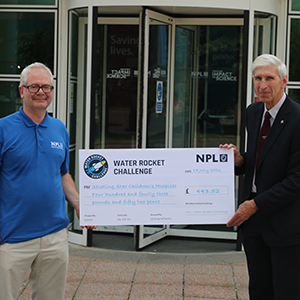 NPL outreach programme donates proceeds of Water Rocket Challenge to Shooting Star Children